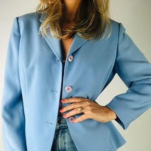 VINTAGE JONES NEW YORK | Pastel Blue Blazer 12